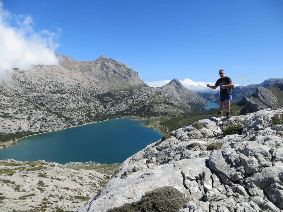 View from Puig de L`Ofre towards Puig Major ( Lake Cuber)
